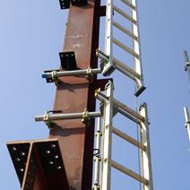 H柱用梯子ホルダー